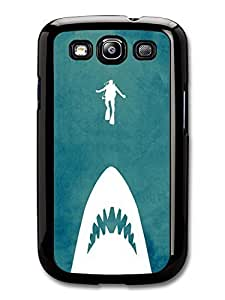 AMAF ? Accessories Jaws Minimalist Movie Poster with Shark and Scuba Diver case for Samsung Galaxy S3