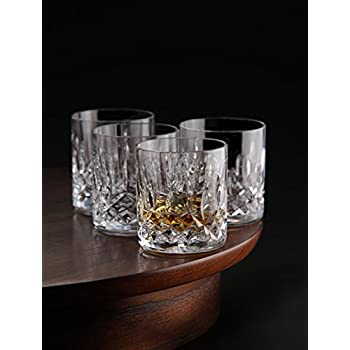 amlong crystal lead free double old fashioned crystal glass 9 ounce set of 4 old. Black Bedroom Furniture Sets. Home Design Ideas