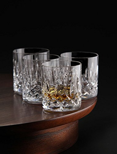 Le'raze Posh Crystal Collection Double Old Fashioned Glasses, Perfect for serving scotch, whiskey or mixed drinks (Set of 6-11Oz DOF Glasses)