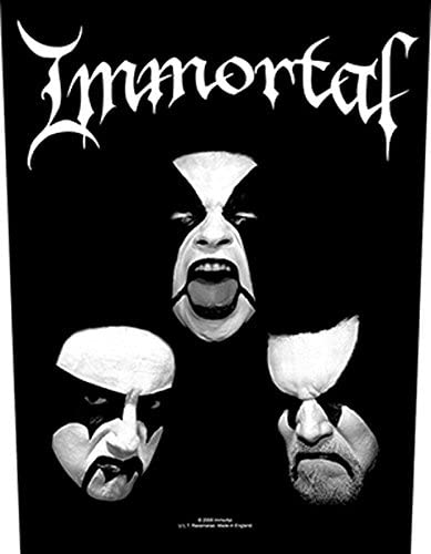 """IMMORTAL Black Metal Iron On Sew On Embroidered Patch 5/""""x2/"""""""