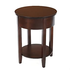 Amazon Com Bay Shore Collection Round Side Table With