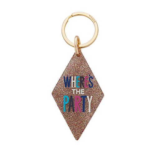 Fossil Motel Key Acrylic Glitter Keyfob Multi, Party