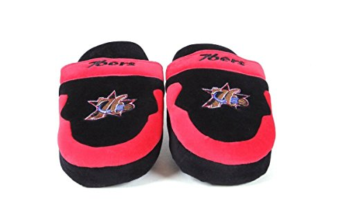 NBA Philadelphia 76ers Slippers Feet Happy Womens Mens and LICENSED OFFICIALLY Scuff xyT64ZqfwH