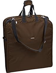 WallyBags 42 Inch Shoulder Strap Garment Bag, Brown