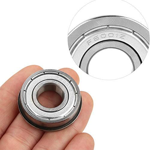 10pcs F6001ZZ Double shielded ball bearings Miniature with flanges Deep groove ball bearings 12288 mm