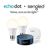 Echo Dot (2nd Generation) - Black + Element by Sengled 2 Bulb Kit