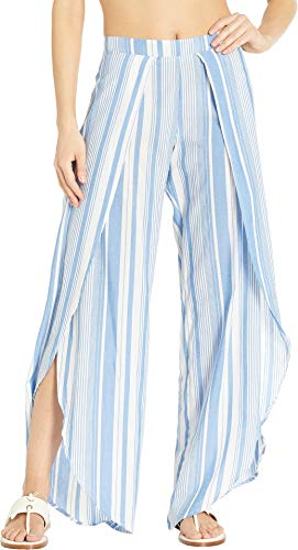 - Polo Ralph Lauren Women's Yarn-Dye Wrap Pant Blue/White Small