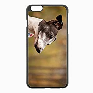 iPhone 6 Plus Black Hardshell Case 5.5inch - dog background clothes Desin Images Protector Back Cover