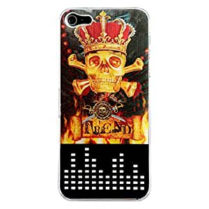 New Sense 3D Flash Light LED Crown and Skulls Color Changing Case Cover Skin for iPhone 5/5S