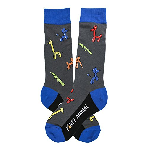 Fashion Beverage - Foot Traffic - Men's Beverage-Themed Socks, Party Animal (Shoe Sizes 7-12)