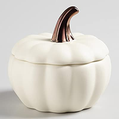 White Pumpkin Bakers -- Set of 4