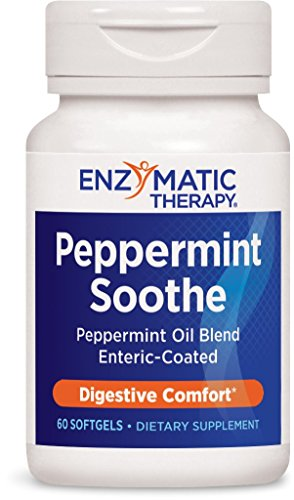 Capsules Therapy 60 - Enzymatic Therapy Peppermint Soothe Peppermint Oil Enteric-Coated Digestive Comfort, 60 Count