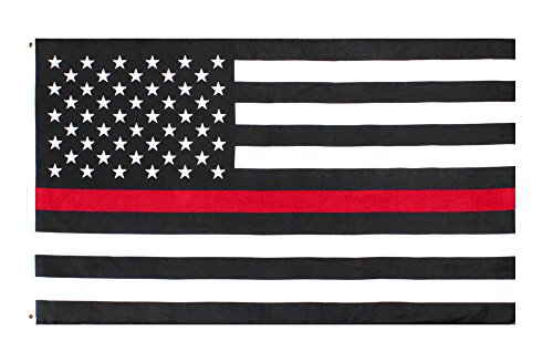 Johnin 3×5 Foot Thin Red Line USA Flag – Double Side Color – UV Fade Resistant – Bright Pattern – American Honoring Firefighter Flags