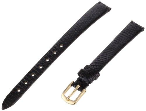 Hadley-Roma Women's LSL700RA-100 10-mm Black Genuine Java Lizard Leather WatchStrap