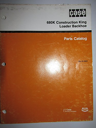 Case 680K Tractor Loader Backhoe Parts Catalog Book Manual Original - Parts Catalog Backhoe Loader