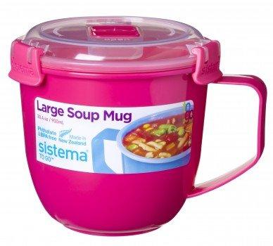 Taza para microondas con tapa, para sopa, 565 ml: Amazon.es ...