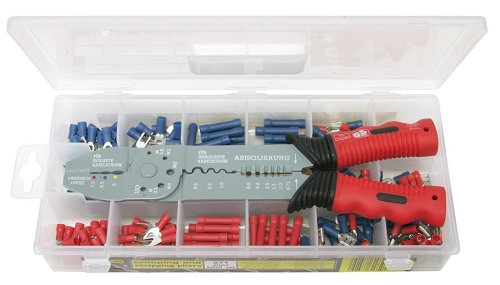 KS TOOLS 115.1230 Coffret de pinces à sertir standard pour cosses pré-isolées - 271 pcs 4042146137208