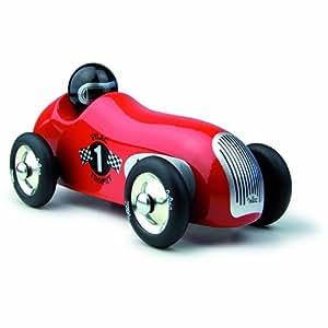 Vilac 2286R - Coche de carreras teledirigido (madera, 20 cm), color rojo