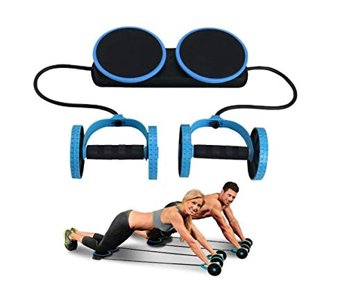 Ab Roller Wheel – Ab Wheel Exercise Fitness Equipment – 5-in-1 Multi-Functional Core Ab Workout Abdominal Wheel Machine – Ab Roller Home Gym Equipment for Both Men & Women