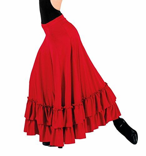Adult Flamenco Skirt,9100BLKL,Black,Large - Flamenco Dance Skirt