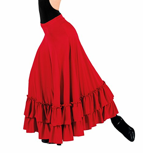Adult Flamenco Skirt,9100REDM,Red,Medium - Adult Flamenco Skirt