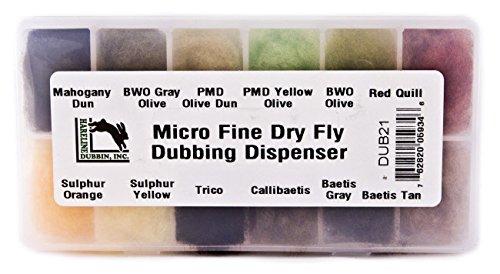 Hareline Fly Tying Micro Fine Dry Fly Dubbing Dispenser -