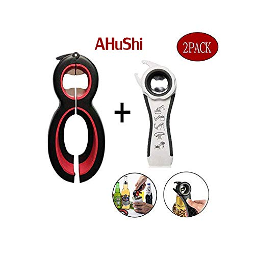 - Multi Bottle Opener, Professional Can and Jar Opener, 5-in-1 and 6-in-1, Twist Off Lid Kitchen Tool Suitable for Seniors or Arthritic Hands