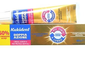- Kukident Double Action Adhesive Cream 60g For Dental Implants