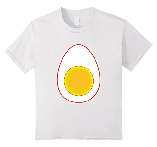 Kids Funny Deviled Egg Halloween T-Shirt Last Minute Costume Tee 10 White (Last Minute Halloween Costume Ideas For Kids)