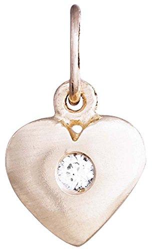Helen Ficalora Medium Puffy Heart Charm Rose Gold - Rose Gold Puffy Heart