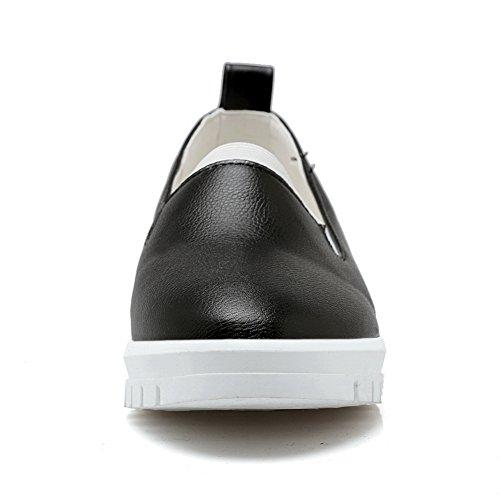Balamasa Meisjes Platform Pull-on Geïmiteerd Lederen Pumps-schoenen Zwart