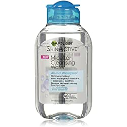 Garnier SkinActive Micellar Cleansing Water, For Waterproof Makeup, Travel Size, 3.4 fl. oz.
