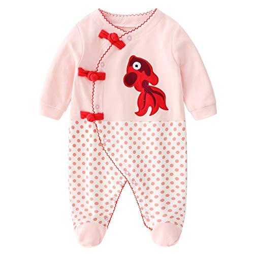 Baby Meisjes Romper Pasgeboren Jumpsuit Lange Mouw Romper Katoenen Slaappakken 3-6 Maanden