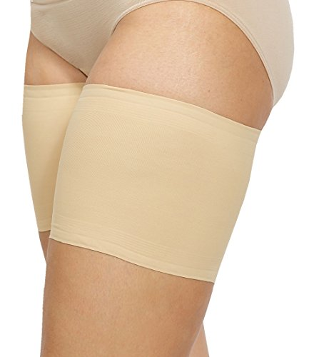 Bandelettes Elastic Anti-Chafing Thigh Bands - Prevent Thigh Chafing - Beige Unisex, Size A