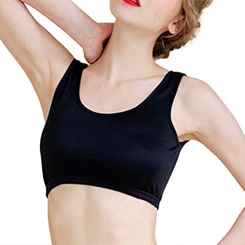 Zylioo Women`s Mulberry Silk Sports Bralette Cup Soft Wireless Yoga Bra Black