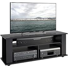 CorLiving TBF-604-B Bakersfield Ravenwood TV/Component Stand, Black