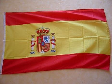 Bandera de España con escudo de Italia 150 x 90 cm fahnenmax: Amazon.es: Deportes y aire libre