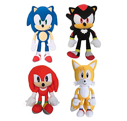 Sonic The Hedgehog - Sonic and Friends 4 Piece Set - 11 INCHES Tall by Sonic The Hedgehog