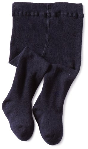 -girls Infant Seamless Organic Cotton Tights, Navy, 6-18 Months ()