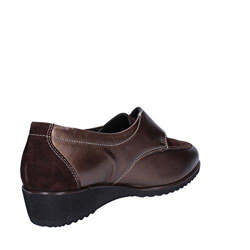 Sneakers Damen 37 EU Braun Leder Susimoda zP3PJUZ