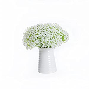 Meiliy 10pcs Plastic Artificial Baby Breath Gypsophila Flower for Home Wedding Office Party Decoration 2