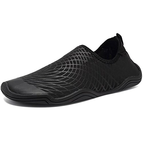 CIOR Kids Water Shoes Quick-Dry Boys and Girls Slip-On Aqua Beach Sneakers (Toddler/Little Kid/Big Kid) Jq.balck