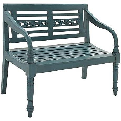 Deco 79 37765 Wood Mahogany Bench 40 X 36