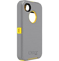 Otterbox Defender Series Hybrid Case & Holster for iPhone 4 & 4S - Retail Packaging - Sun Yellow/Gunmetal Grey by HOTANGO