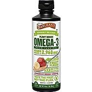 Barlean's Organic Oils Omega Swirl Flax Oil, Strawberry Banana, 16-Ounce Bottle