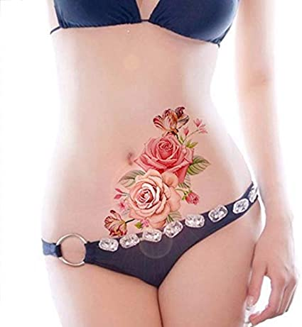 Nueva Rosa Flores Brazo Hombro Tatuaje Impermeable Dama Mujer ...