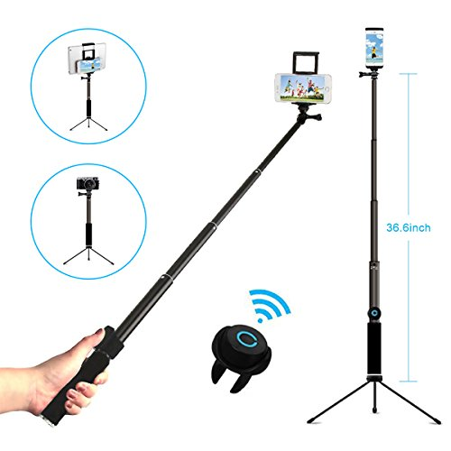 Selfie Stick Tripod with Remote, Hizek Wireless 270