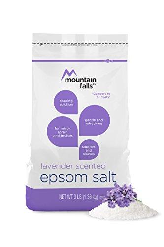 Mountain Falls Epsom Salt, Lavender Scented, 3 Pound (Bath Salts Recipe Epsom Salts Baking Soda)