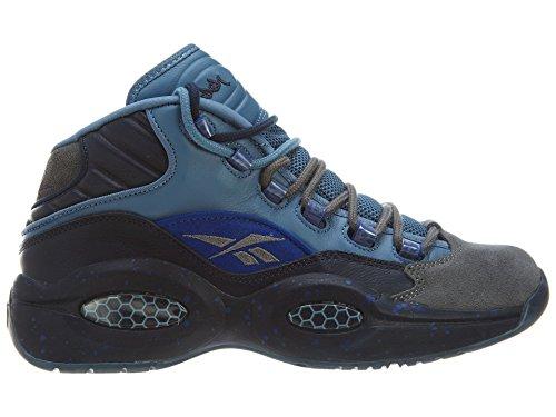 Reebok Men s Question Mid Stash Grey-Navy-Ultramarine V61041 Shoe