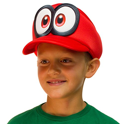 Bioworld Super Mario Odyssey Cappy Hat Kids Cosplay Accessory Red]()
